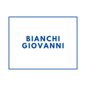 BIANCHI GIOVANNI